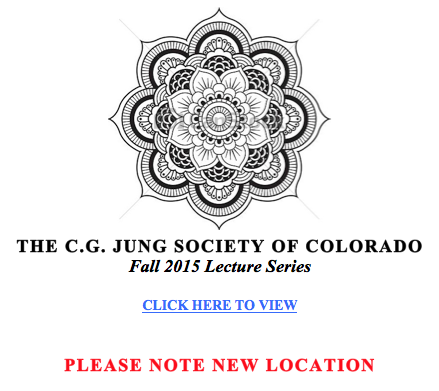 CG Jung Society of Colorado Fall 2015 Lecture Series